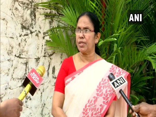 Kerala Health Minister on COVID19 speaks to media on Friday [Photo/ANI]