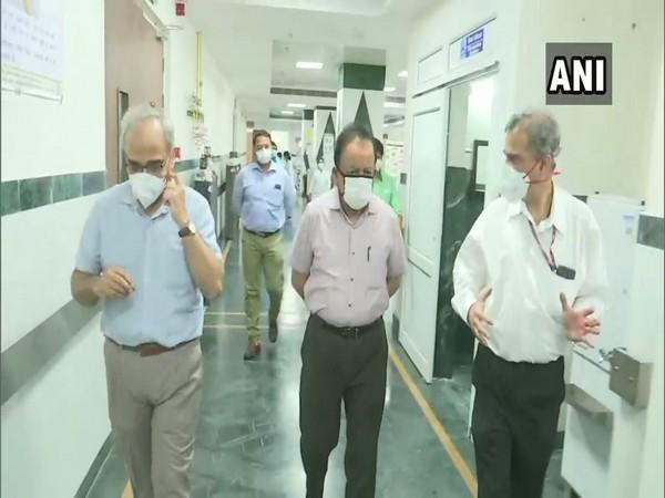 Health Minister Dr Harsh Vardhan visited AIIMS Trauma Centre on Sunday.