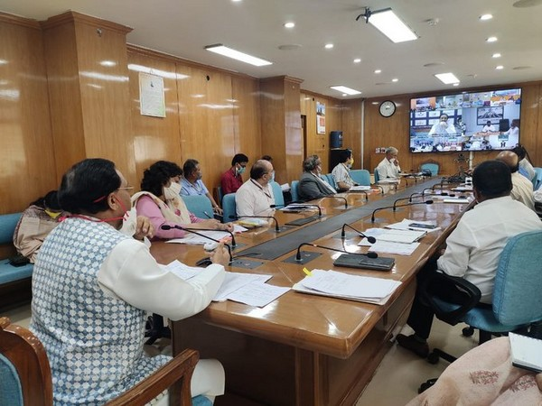 Union HRD Minister Ramesh Pokhriyal Nishank holds video conference with state education ministers.