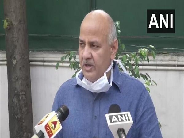 Delhi Deputy Chief Manish Sisodia speaking to media in New Delhi on Wednesday. Photo/ANI
