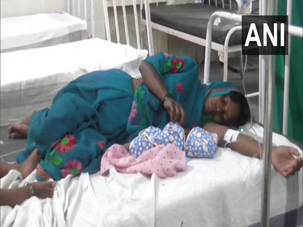 Shakuntala with her baby in a hospital. Photo/ANI