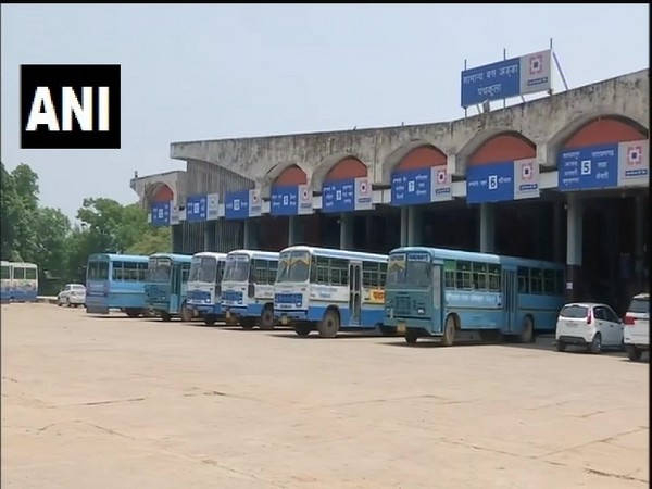 A bus depot in Panchkula, Haryana on Thursday. Photo/ANI