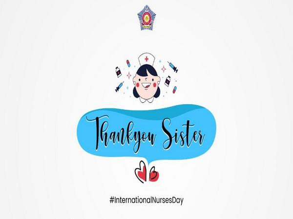 The Nurses day wish shared by Mumbai Police (Image courtesy: Twitter)