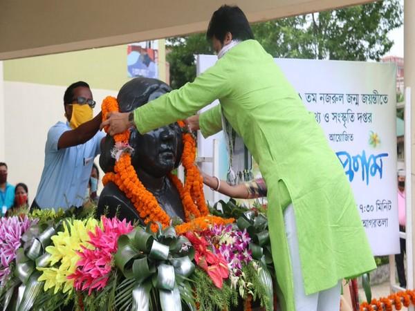 Tripura CM pays tributes to poet Kazi Nazrul Islam on his birth anniversary.