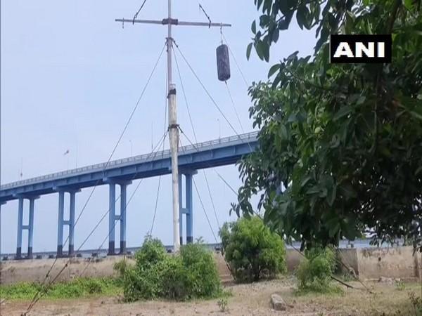 Visuals from the Pamban bridge in Rameswaram
