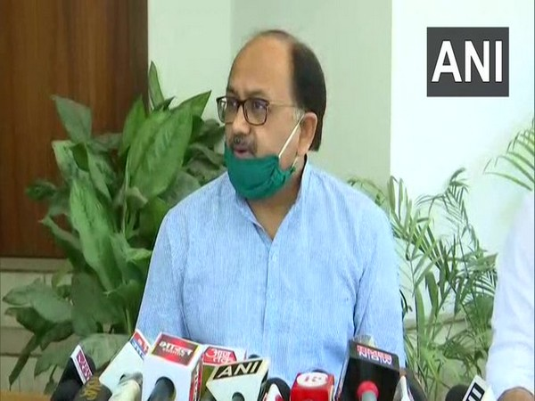 UP Minister Sidharth Nath Singh speaking to reporters in Lucknow on Tuesday. Photo/ANI
