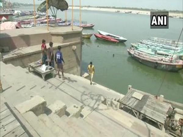 Visual of a ghat in Varanasi (Photo/ANI)
