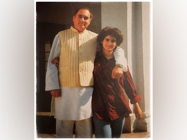 The photograph shared by Priyanka Gandhi Vadra. [Photo/Twitter]