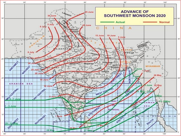 Conditions are becoming favourable for further advance of Southwest Monsoon.