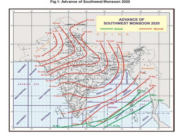 IMD predicts southwest monsoon onset likely by June 1. [Photo/IMD]