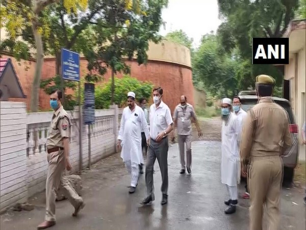 Kyrgyzstan's Ambassador to India, Asein Isaev visited Saharanpur jail on Friday (Photo/ANI)
