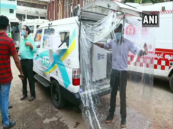 A mobile COVID-19 testing vehicle launched in Alappuzha (Photo/ANI)