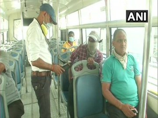 Visuals from Vadodara where city buses resumed services. [Photo/ANI]