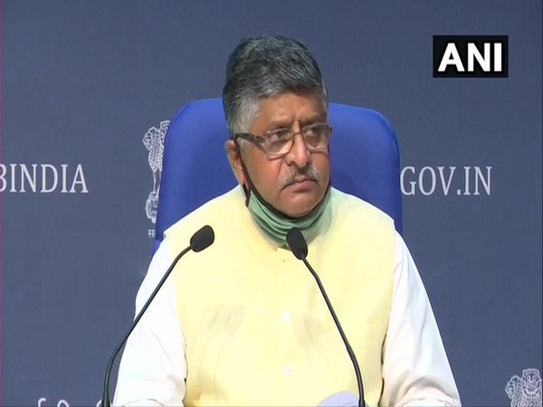 Union Minister Ravi Shankar Prasad at the launch of 'Electronics Manufacturing Schemes' in New Delhi [Photo/ANI]