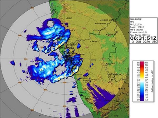 Satellite image of cyclone Nisarga over Raigad district, Maharashtra. [Image: IMD]