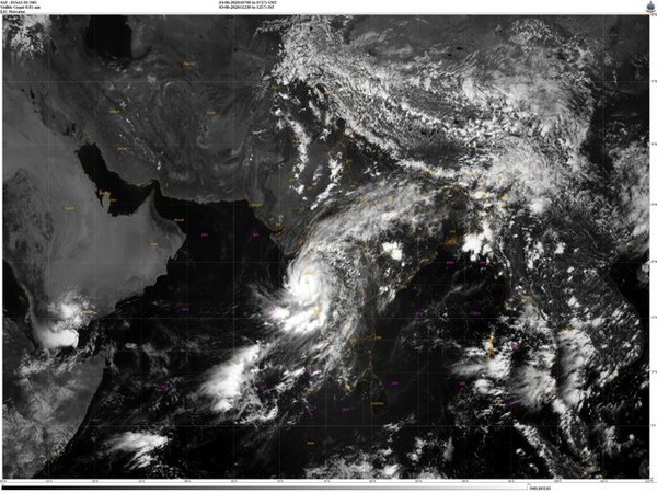 Visible imagery from INSAT-3D of Cyclone Nisarga. [Image: IMD]