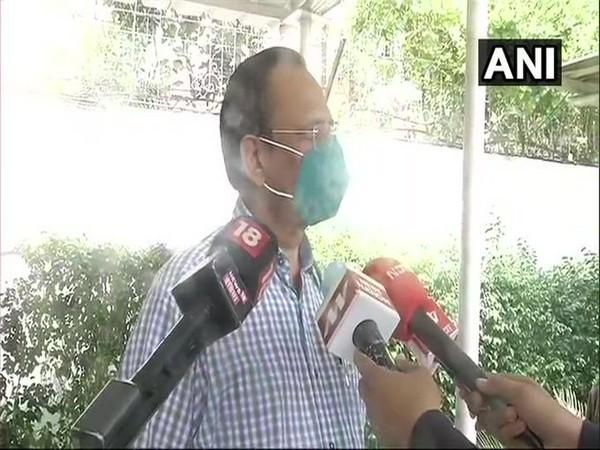 Delhi Health Minister Satyendar Jain speaks to media in New Delhi on Thursday [Photo/ANI]