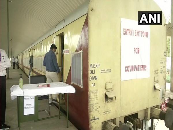 10 coaches converted into isolation at Shakur Basti railway station.