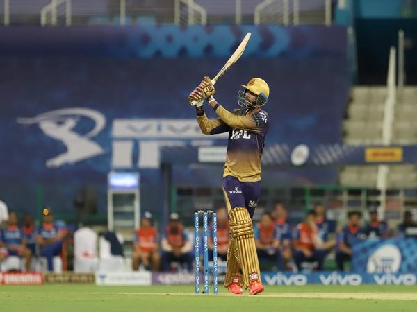 KKR opening batsman Venkatesh Iyer (Photo/ IPL Twitter)