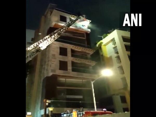 Visual of the Nutan Villa building in Mumbai that caught fire (Photo/ANI)
