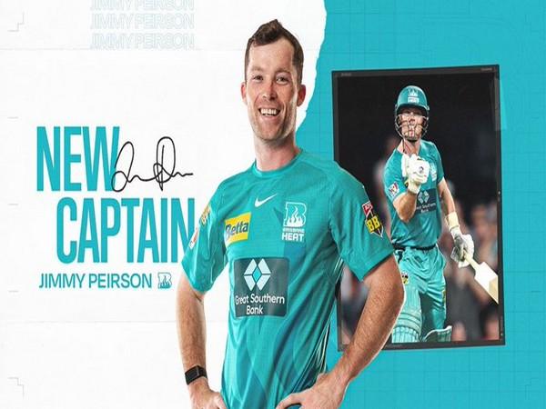 Jimmy Peirson to captain Brisbane Heat (Photo/ Brisbane Heat Twitter)