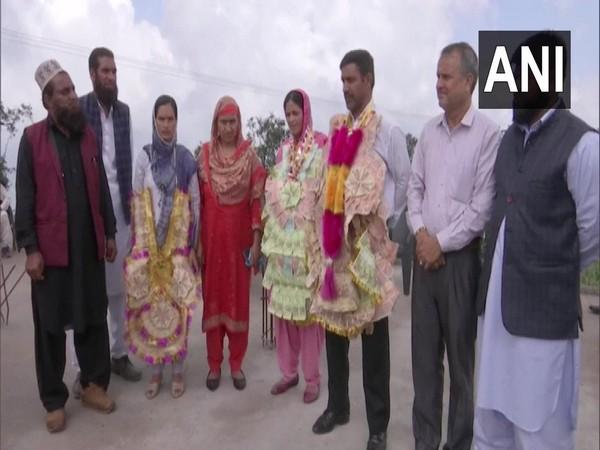 People celebrating Tahirah Rehman's achievement (Photo/ANI)