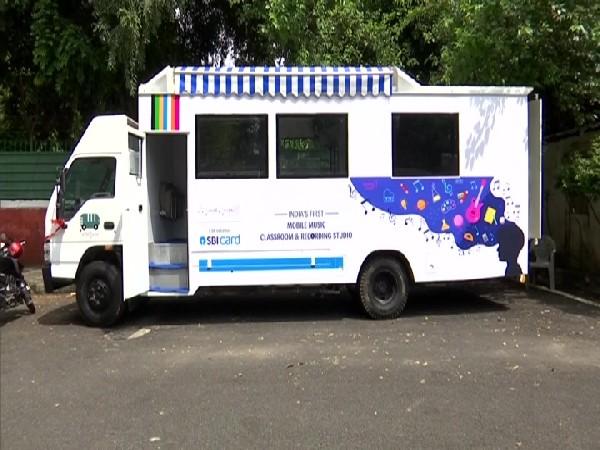 Bus providing music classes to students of Delhi government schools. (Photos/ANI)