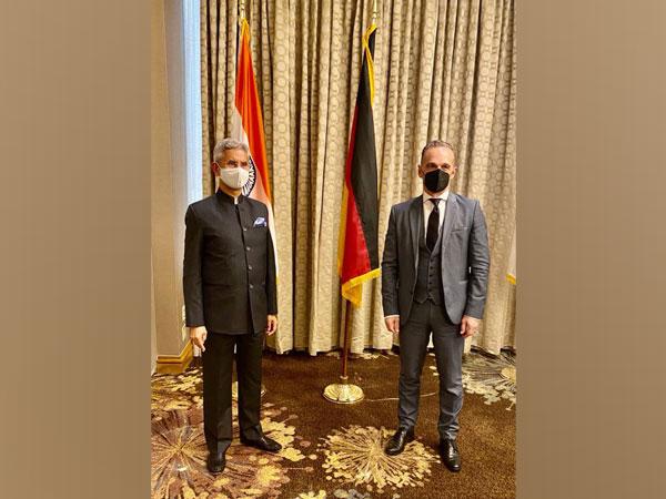External Affairs Minister S Jaishankar and his German counterpart Heiko Mass