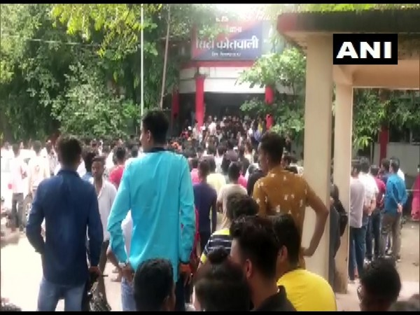 Visuals from protest sie (Photo/ANI)