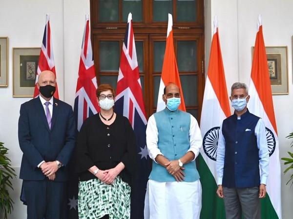 India's Minister of Defence, Rajnath Singh, and Minister of External Affairs, S. Jaishankar, welcomed Australian Minister for Foreign Affairs Marise Payne, and Minister for Defence Peter Dutton MP