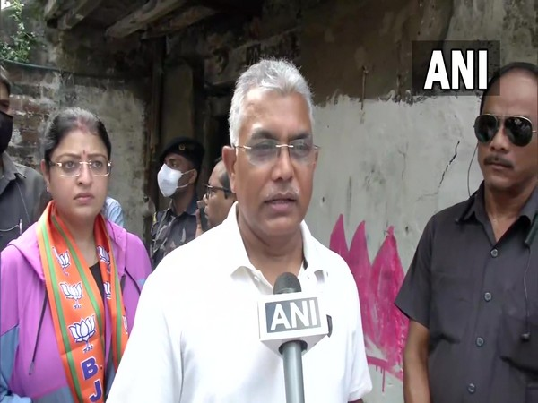 West Bengal BJP President Dilip Ghosh in Bhabanipur (Photo/euro 16 scores)