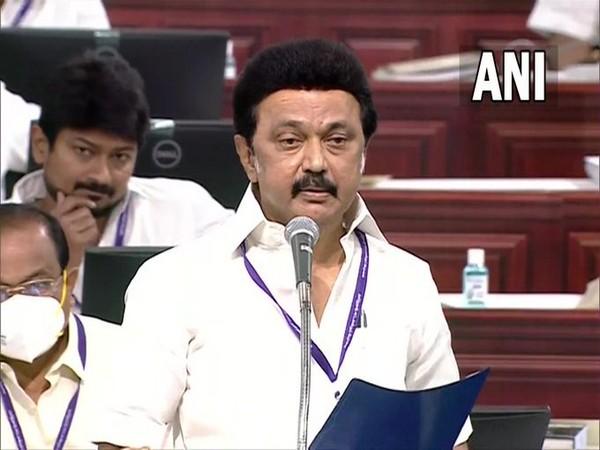 Tamil Nadu Chief Minister MK Stalin speaking at the Legislative Assembly (Photo/ANI)