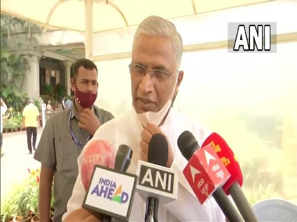 BJP MLA, Shrimant Balasahib Patil speaking to media on Monday. (Photo/ANI)