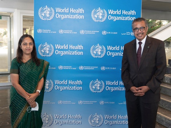 MEA Secretary West meets DG WHO, discuss cooperation chains in Health sector [Image: Twitter @MEAIndia]