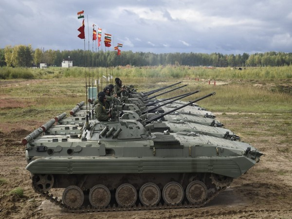 Indian army participating in ZAPAD 2021  (Pic Credit: Indian Army Official Twitter)