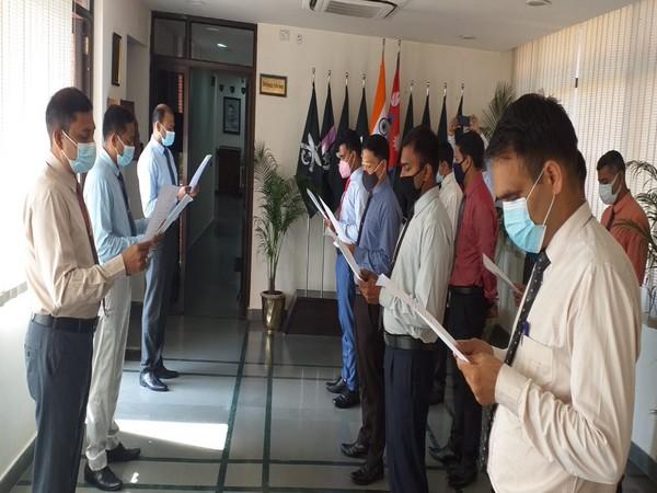 Embassy of India in Kathmandu, Nepal celebrating Hindi Fortnight. Photo Courtesy: Twitter/IndiaInNepal