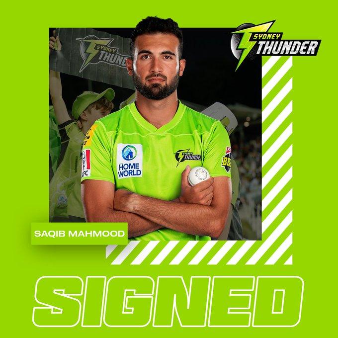 Sydney Thunder sign England pacer Saqib Mahmood (Photo/ Sydney Thunder Twitter)
