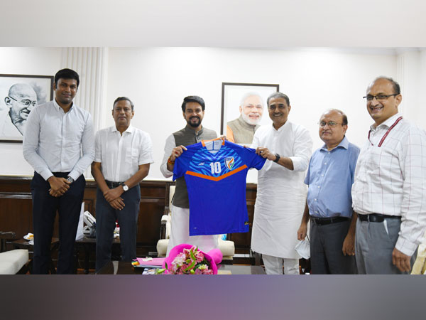 AIFF President meets Sports Minister (Photo/ Indian Football Team Twitter)