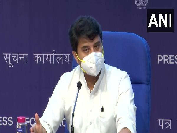 Minister of Civil Aviation Jyotiraditya Scindia (Photo/ANI)
