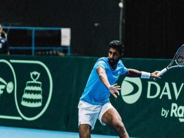 Prajnesh Gunneswaran (Photo: Twitter/Finnish Tennis Association)