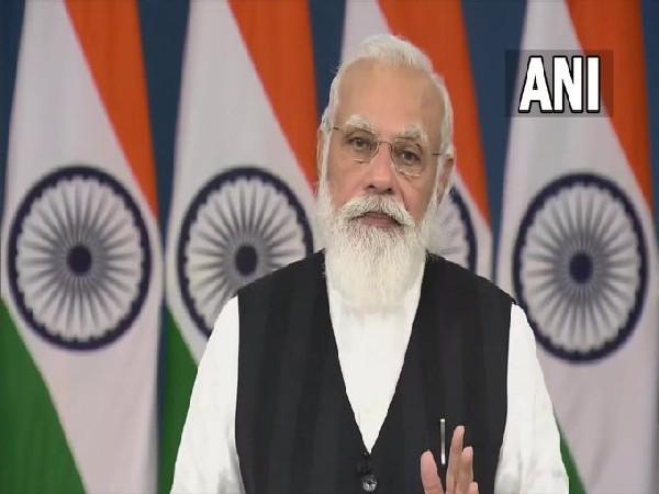 Prime Minister Narendra Modi virtually addressing the SCO-CSTO Summit on Afghanistan on Friday. [Photo/ANI]