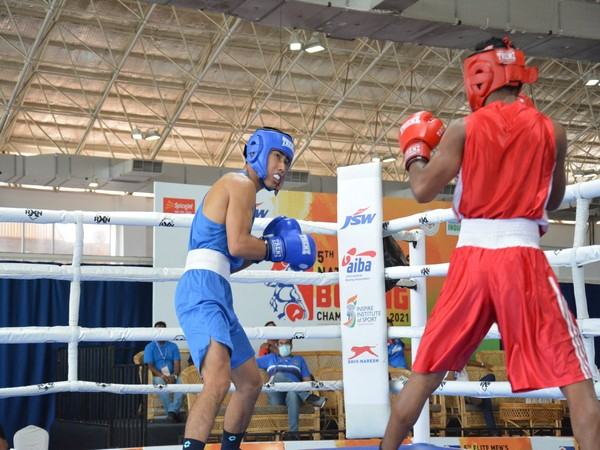 Boxers in action on Day 3 of 5th Elite Men's National Boxing Championships (Photo: Twitter/Boxing Federation of India)