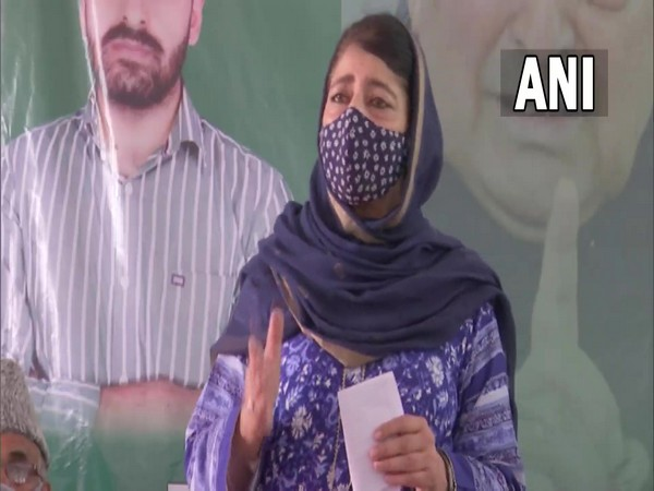 Peoples Democratic Party (PDP) chief Mehbooba Mufti (Photo/ANI)