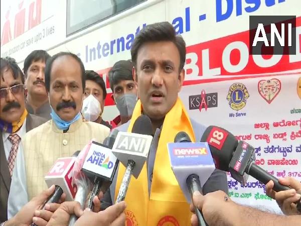 Karnataka Health Minister Dr K Sudhakar (Photo/ANI)