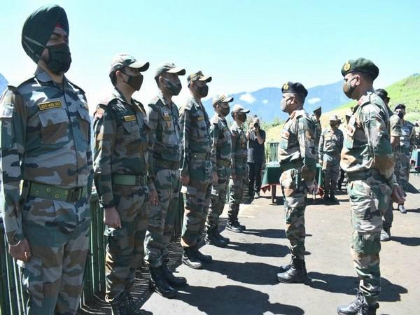 Eastern Army Commander, Lieutenant General Manoj Pande in Arunachal Pradesh's LAC (Photo/ANI)