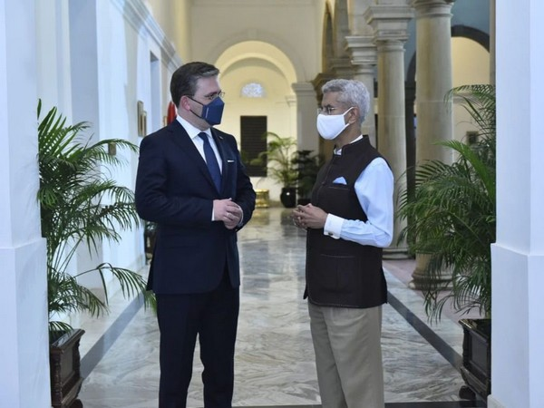 External Affairs Minister S Jaishankar and his Serbian counterpart Nikola Selakovic