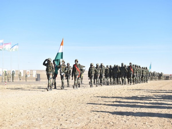 Indian Army's parade at SCO's Peaceful Mission (Photo: Indian Army Twitter handle)