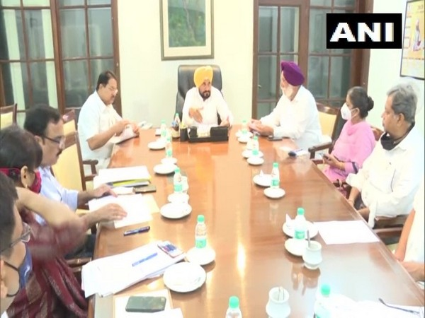 Visuals from the Punjab Cabinet meeting in Chandigarh. (Photo/ANI)