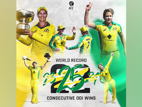 Australia has now won 25 consecutive games. (Photo/ ICC Twitter)