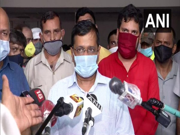 Delhi Chief Minister Arvind Kejriwal speaking to reporters on Friday (Photo/ANI)